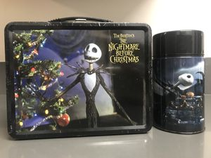 The Nightmare Before Christmas metal lunchbox with thermos for Sale in Foster City, CA