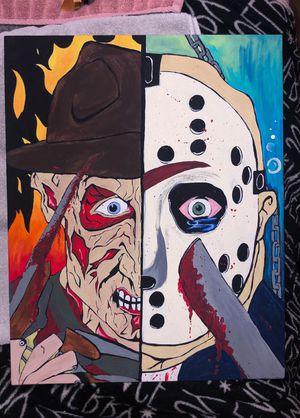 Freddy vs Jason hand painted 16x20 canvas. for Sale in Murfreesboro, TN