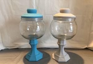 Teal & Silver Chalk Paint Jars Set for Sale in Riverton, UT
