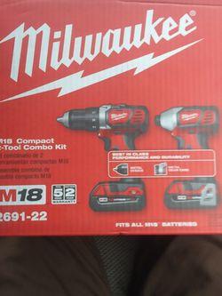 MILWAUKEE M18 compact 2 Tool Combo Kit for Sale in Marysville,  WA