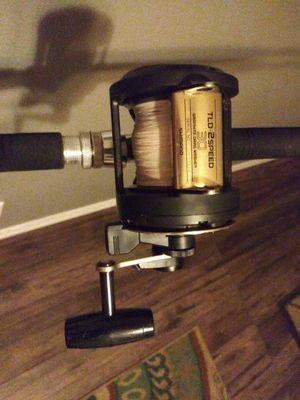Tld 2 speed reel on a trolling roller rod combo for Sale in Saint Petersburg, FL