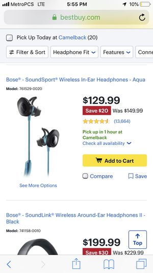 Bose wireless headphones for Sale in Glendale, AZ