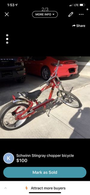 Schwinn Stingray chopper bicycle. OBO for Sale in Nashville, TN
