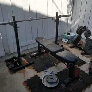 Bench Press, Dumbbells and Weights - Home Gym for Sale in San Diego, CA