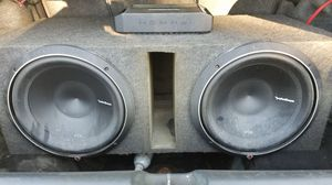 """2 12"""" Roxford Fosgate P2 Subs with a 500.1 matching amp and box for Sale in Kingsport, TN"""