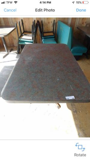 48 in by 30 marble look Formica top with steel base for Sale in Jefferson City, MO