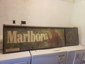Marlboro Double face clock light for Sale in Batesburg-Leesville, SC