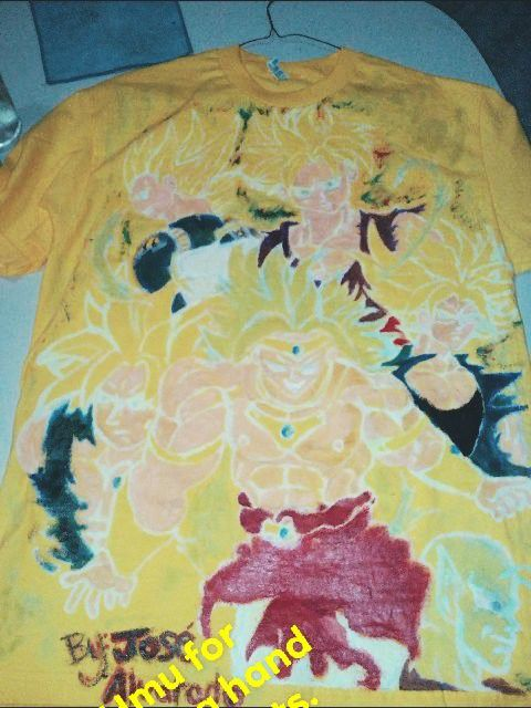 Hand Design Fabric paint Glowing Teenage Shirt
