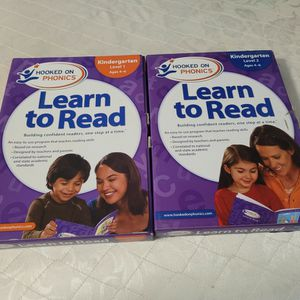Hooked On Phonics Learn To Read Kindergarten Level 1 Level 2 Ages 4-6 for Sale in Fontana, CA