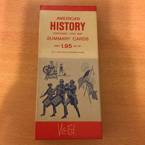 VIS-ED American History Discovery - Civil War Summary Cards Flash Cards for Sale in San Gabriel, CA