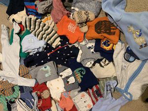 Clothes for boy from 0 to 9 months and diapers for Sale in Bethesda, MD