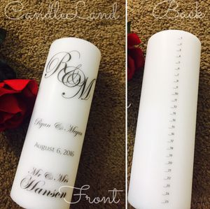 Beautiful unity candle with 25 year countdown for Sale in Hialeah, FL