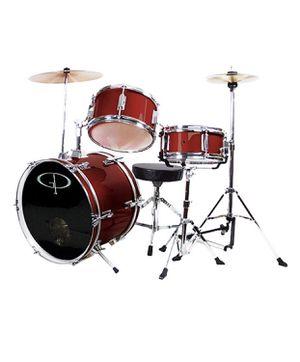 New In Box xxxxx GP Percussion GP50WR Complete Junior Drum Set - 3 Piece - Wine Red for Sale in Austin, TX