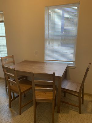 Wooden kitchen table and chairs set for Sale in Berkeley, CA
