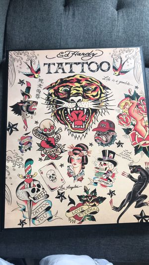 Ed hardy tattoo poster Michael Jordan last shot limited edition Collectible for Sale in North Providence, RI
