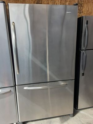 $399 Whirlpool stainless bottom freezer fridge includes delivering the San Fernando Valley a warranty and installation for Sale in Los Angeles, CA