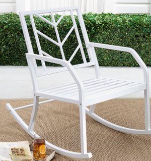 New!! Chair, outdoor chair, patio rocking chair, rocker, garden furniture, white for Sale in Phoenix, AZ