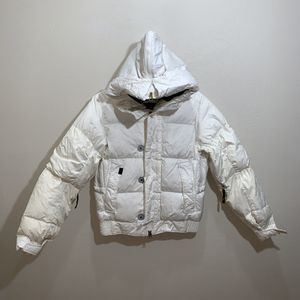 Vans white puffy jacket women's Sz M hood for Sale in Sparks, NV