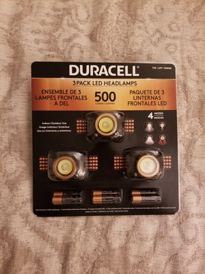 Duracell 3-Pack LED Headlamps for Sale in Lynnwood, WA