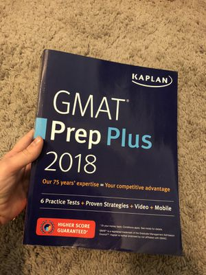 GMAT prep book - 2018 edition for Sale in Mesa, AZ