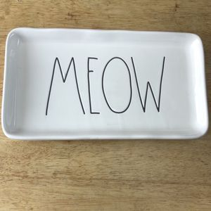 Used, Rae Dunn Trinket Tray - Meow for Sale for sale  East Brunswick, NJ