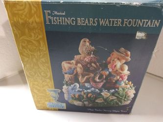 Decorative music playing fishing bears water fountain for Sale in Glen Burnie,  MD