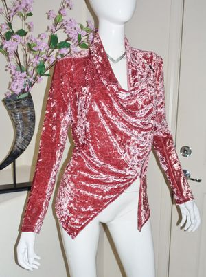 (FREE DELIVERY) *new* pink crushed velvet zip jacket cardigan (fits like S) for Sale in North Las Vegas, NV