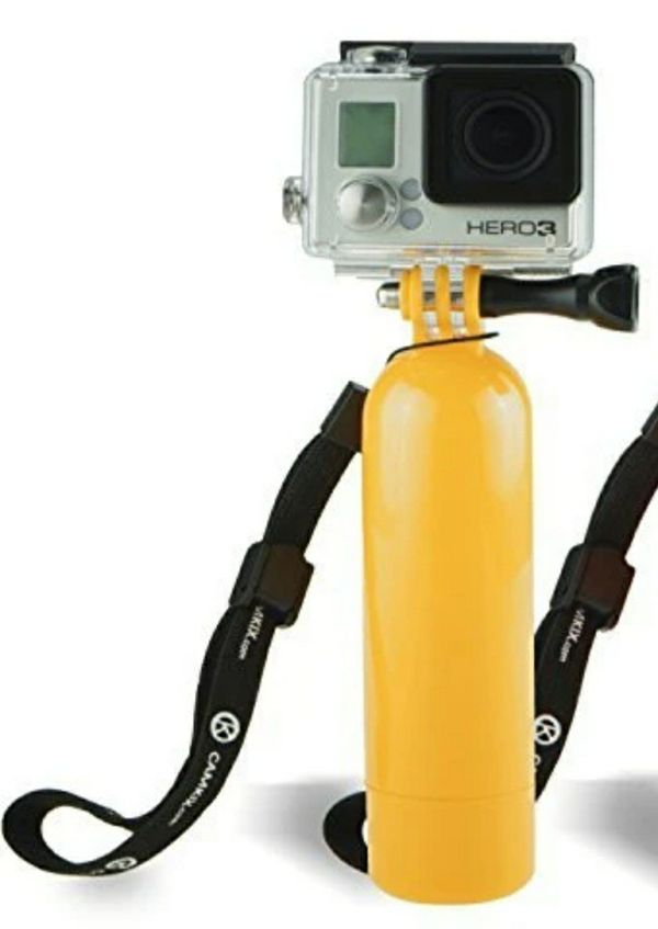 Yellow Floating Hand Grip for Gopro Hero