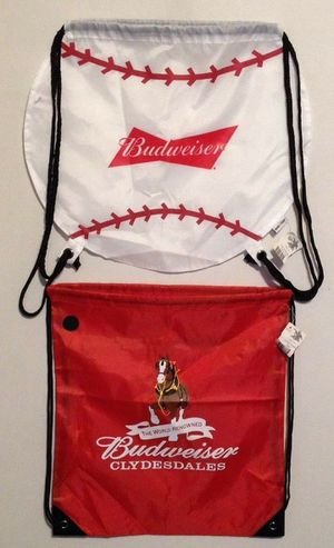New Budweiser Beer Clydesdales Baseball Sling Drawstring Backpack Bags for Sale in Los Angeles, CA