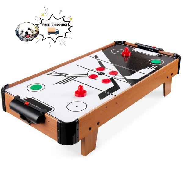 Gaming Gift Idea Tabletop Air Hockey Arcade Game Table w/ 2 Pucks, 2 Strikers - 40in