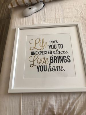 Home decor white and gold frame for Sale in March Air Reserve Base, CA