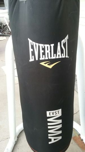 Everlast 70 lb bag and speed bag stand for Sale in Bountiful, UT