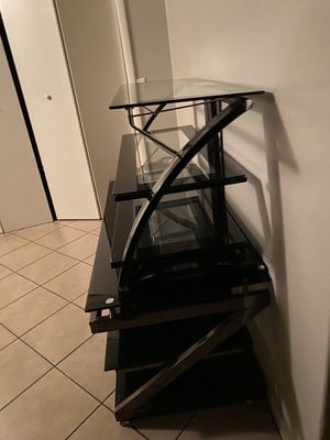 Glass tv stand for Sale in Phoenix, AZ