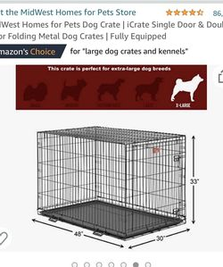 Large Dog Foldable Crate for Sale in Clovis,  CA