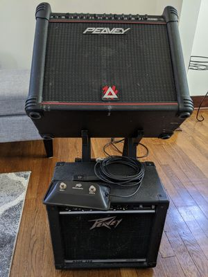 Peavey Bandit 112 300w amp + Peavey Rage 158 40w practice amp for Sale in Pittsburgh, PA