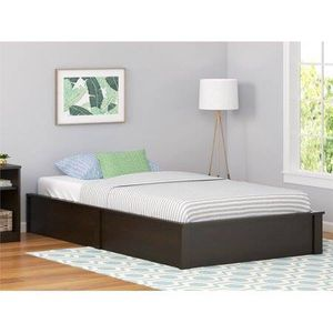 Austin Twin Platform Bed Frame, Espresso with mattress and nightstand for Sale in Houston, TX