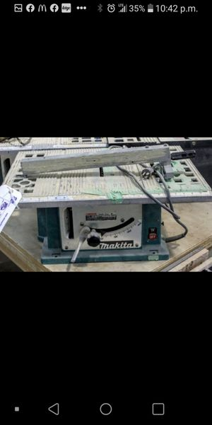 Makita table saw works tested 5-10 extra blades also for Sale in Portland, OR
