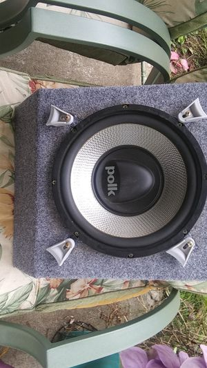 Polk audio 10 inch sub and mtx amp thunder 75.4 for Sale in Woodburn, OR