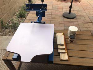 Screen Printer T-shirt Press - Kit w/paint, emulsion and screens for Sale in Phoenix, AZ
