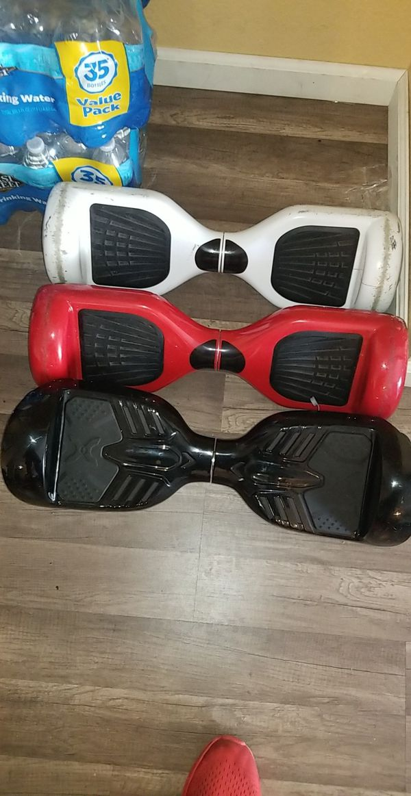 3 hoverboards;Black $175 Red $125 white$ 75