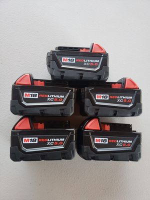 Milwaukee M18 18-Volt Lithium-Ion XC Extended Capacity 5.0Ah Battery for Sale in Sacramento, CA