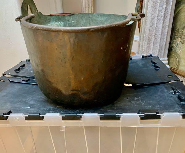 Vintage Heavy Copper Cooking Pot