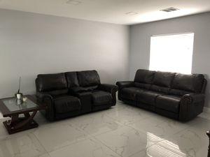 Ashley Furniture Leather Sofa and Love Seat Set + TV Console + Coffee Table for Sale in Azalea Park, FL