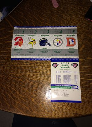 SeaHawks 1994 season tickets for Sale in Seattle, WA