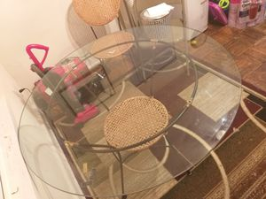 Used Glass circle table for Sale in Mount Rainier, MD