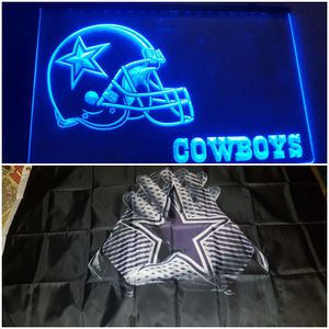 Dallas Cowboys lighted sign and flag for Sale in San Antonio, TX