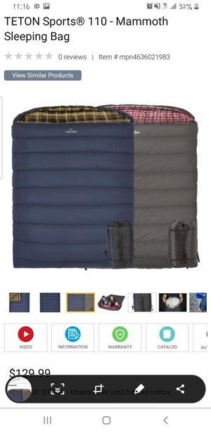 (One) Teton queen sleeping bag, NEW for Sale in Glendale, AZ