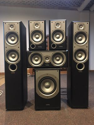Multiple Infinity Speakers and Receiver for Home Entertainment Surround Sound for Sale in Pickerington, OH