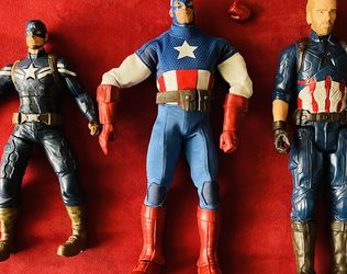 3 Captain America Avengers Marvel Action Figures Toys for Sale in Long Beach, CA