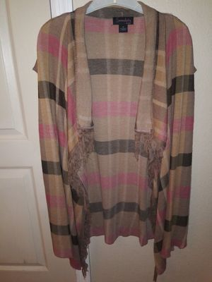 Serendipity by Victoria Woman's Plaid Sleeveless Cardigan in 2X for Sale in Tampa, FL